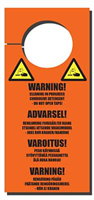 Sign -″Warning cleaning in progress″